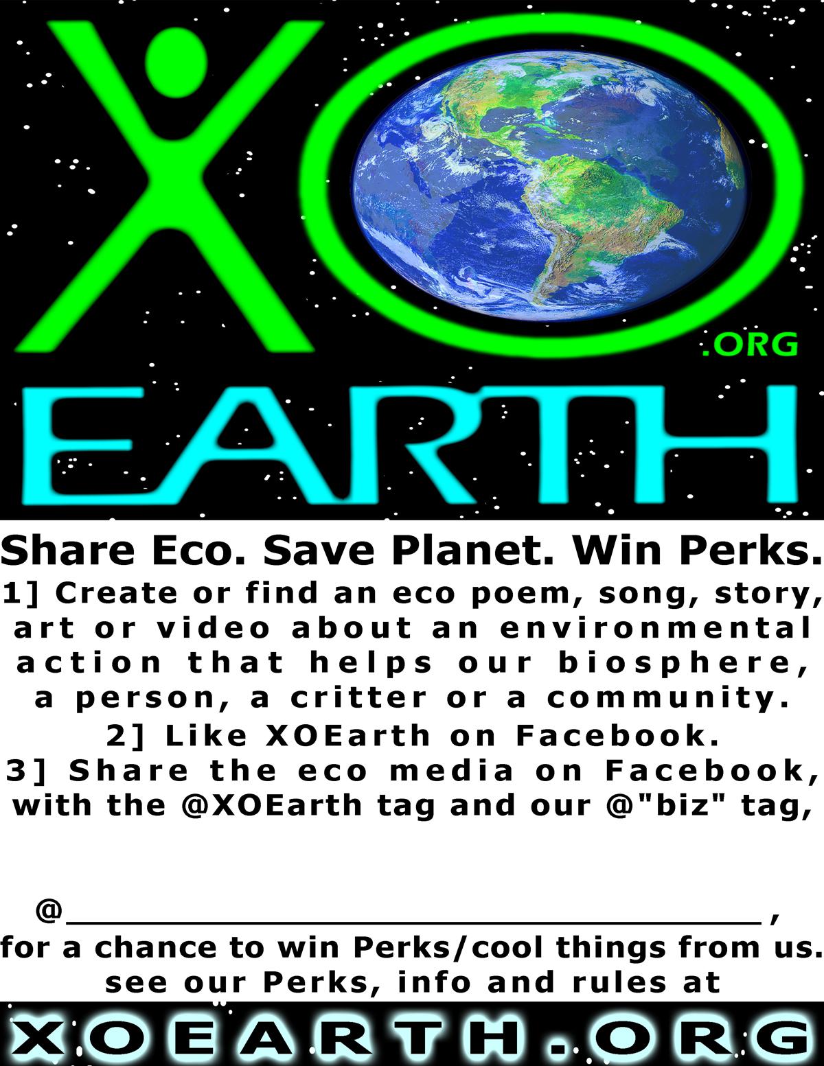 XOEarth Perks Sign